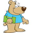 Cartoon Bear with Book vector image