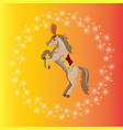 circus or carnival horse with plume vector image