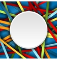 Colorful stripes background with blank vector image