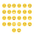 Great set of 26 yellow emotions insulated with vector image