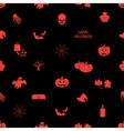 halloween icons dark seamless pattern eps10 vector image