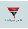 intelligent graphic concept with pencil vector image