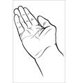Open empty hand vector image