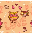 owl lovers seamless background vector image