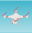 quadrupter drone color isometric vector image