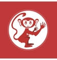Red Monkey Icon Symbol of New Year vector image