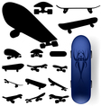 Skateboard silhouettes vector image