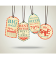 Vintage Sale Tags Design retro vector image