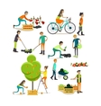 set of garden people characters icons in vector image vector image