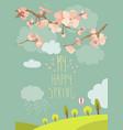 spring blooming tree vector image