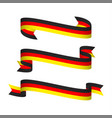 three modern ribbons with the german tricolor vector image vector image