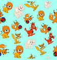 background seamless childrens with animals vector image vector image