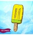 Doodle ice cream frozen dessert style sketch vector image