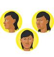 Head African American Woman vector image
