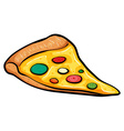 A slice of pizza vector image
