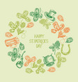 abstract vintage st patricks day background vector image