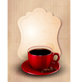 Coffee design template vector image