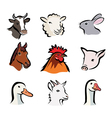 Farm icons c vector image