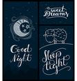 good night sleep tight sweet dreams banners vector image