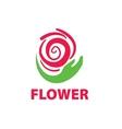 logo floral vector image