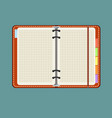 notebook with bookmark isolated on background vector image