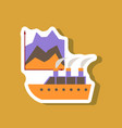 paper sticker on stylish background cruise ship vector image