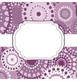 Patterned frame background invitation circular vector image