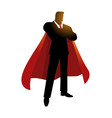 silhouette of a super businessman vector image