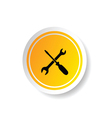sticker of tool icon vector image