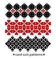 Patterns with card suits vector image vector image