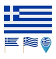 Greece Europe country flag vector image