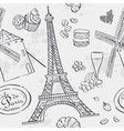 texture with the image of the Eiffel Tower and the vector image