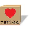 what in a cardboard box vector image vector image