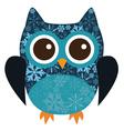 owl snowflake vector image