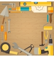 flat design background with do-it-yourself vector image
