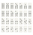 creative of realistic domino vector image