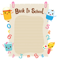 Education Characters On Blank Paper vector image