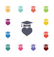 love education flat icons set vector image