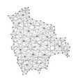 map of bolivia from polygonal black lines and dots vector image