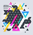 Modern abstract geometric background vector image