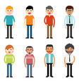 people characters men vector image