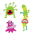 Cartoon cute monsters and bacterias microbes vector image