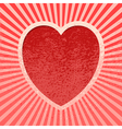 Pink Grunge Valentine vector image