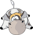 A small cow vector image