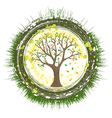 eco tree vector image vector image