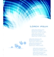 Blue card circles on the water vector image