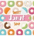 Poster design for a donut shop vector image
