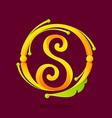 S letter monogram design elements vector image