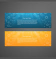 Set of colorful horizontal banners vector image