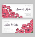 set of gorgeous templates for save the date card vector image